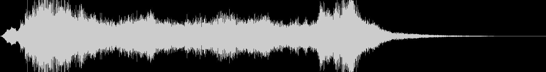 キャラクターに用いる音楽の未再生の波形