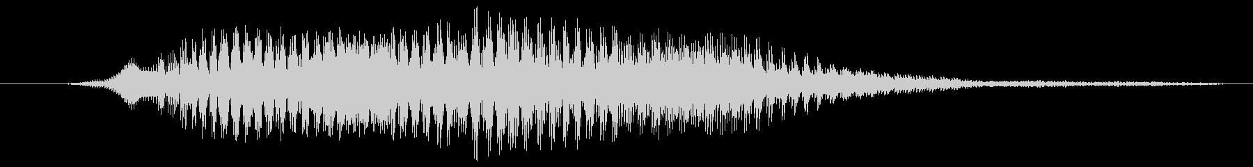 鳴き声 雄叫びの積極的な出発10の未再生の波形