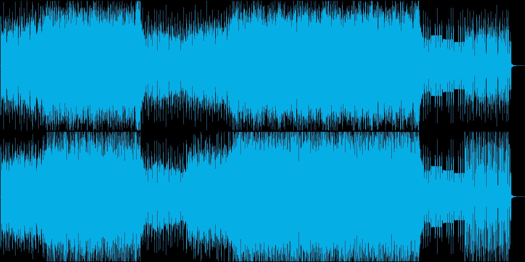 海をイメージしたエレクトリックなBGMの再生済みの波形
