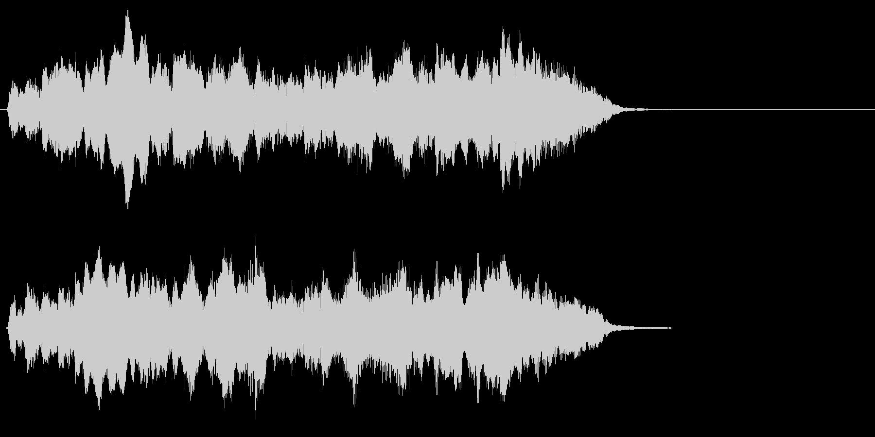 ハリウッド系さわやかなオーケストラのロゴの未再生の波形