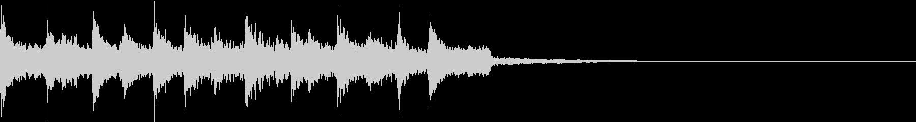 コミカルなエレクトロニカジングルの未再生の波形