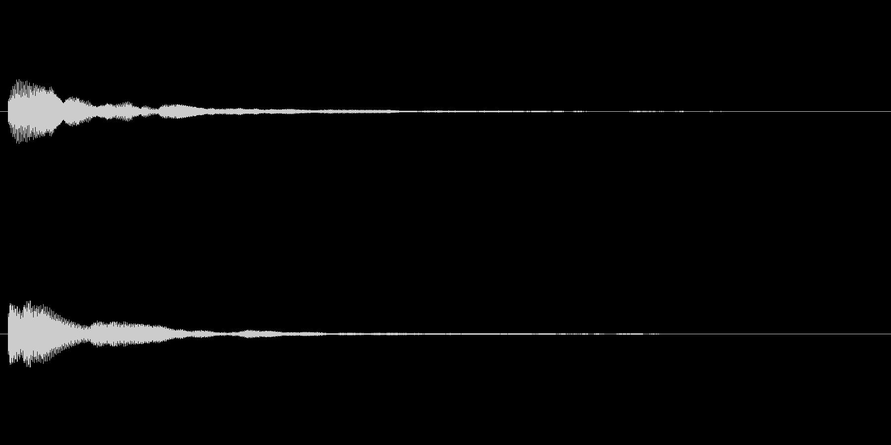 ポーン テロップ・決定音・タッチ音の未再生の波形