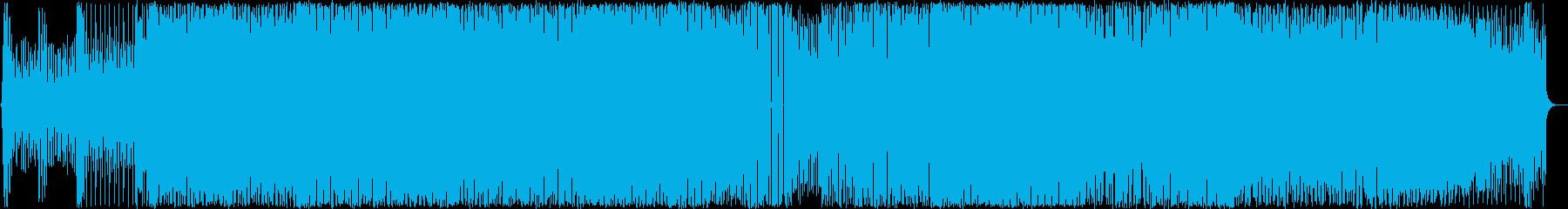 未来感のあるEDMの再生済みの波形