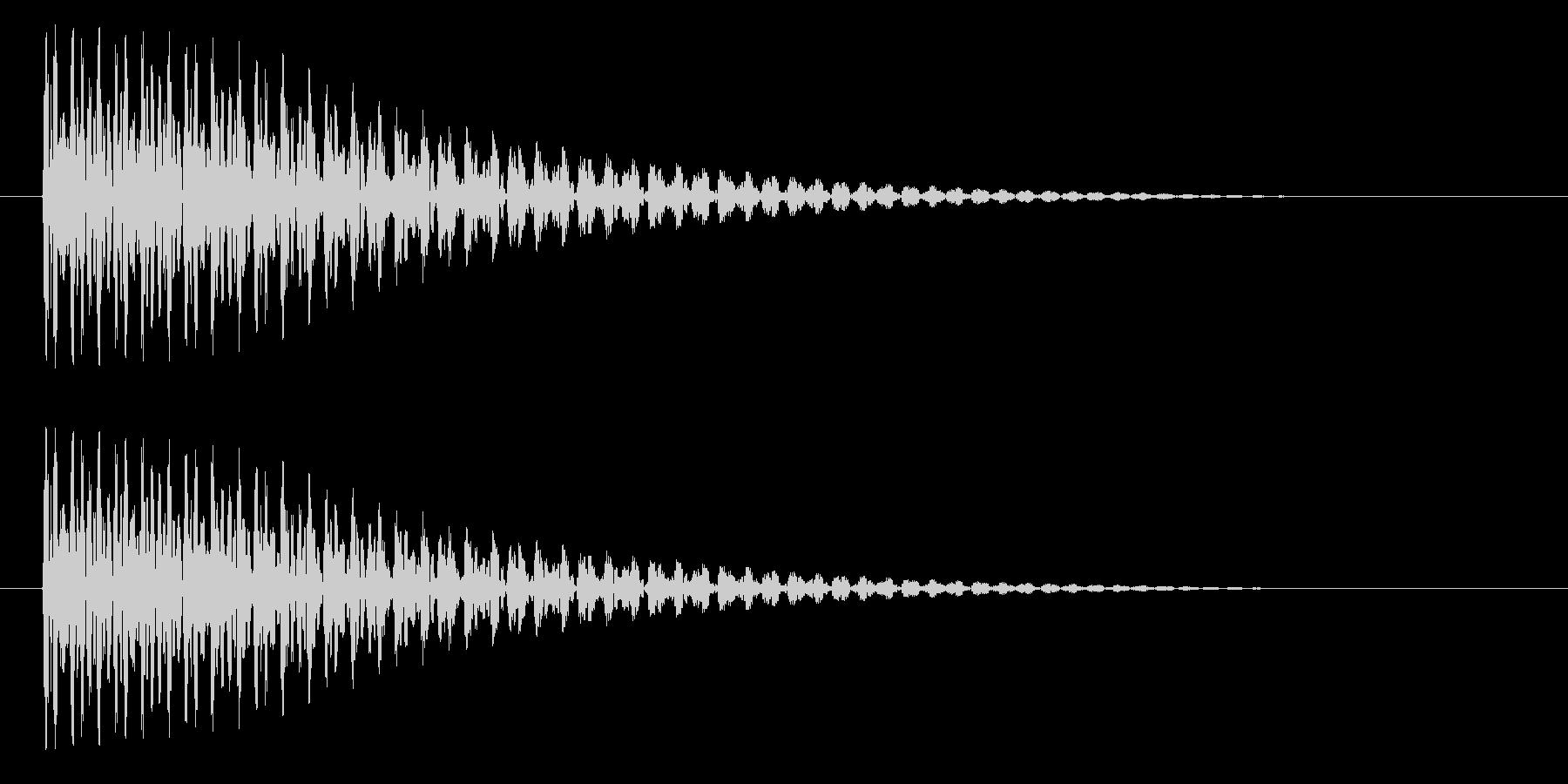 トゥーンの未再生の波形