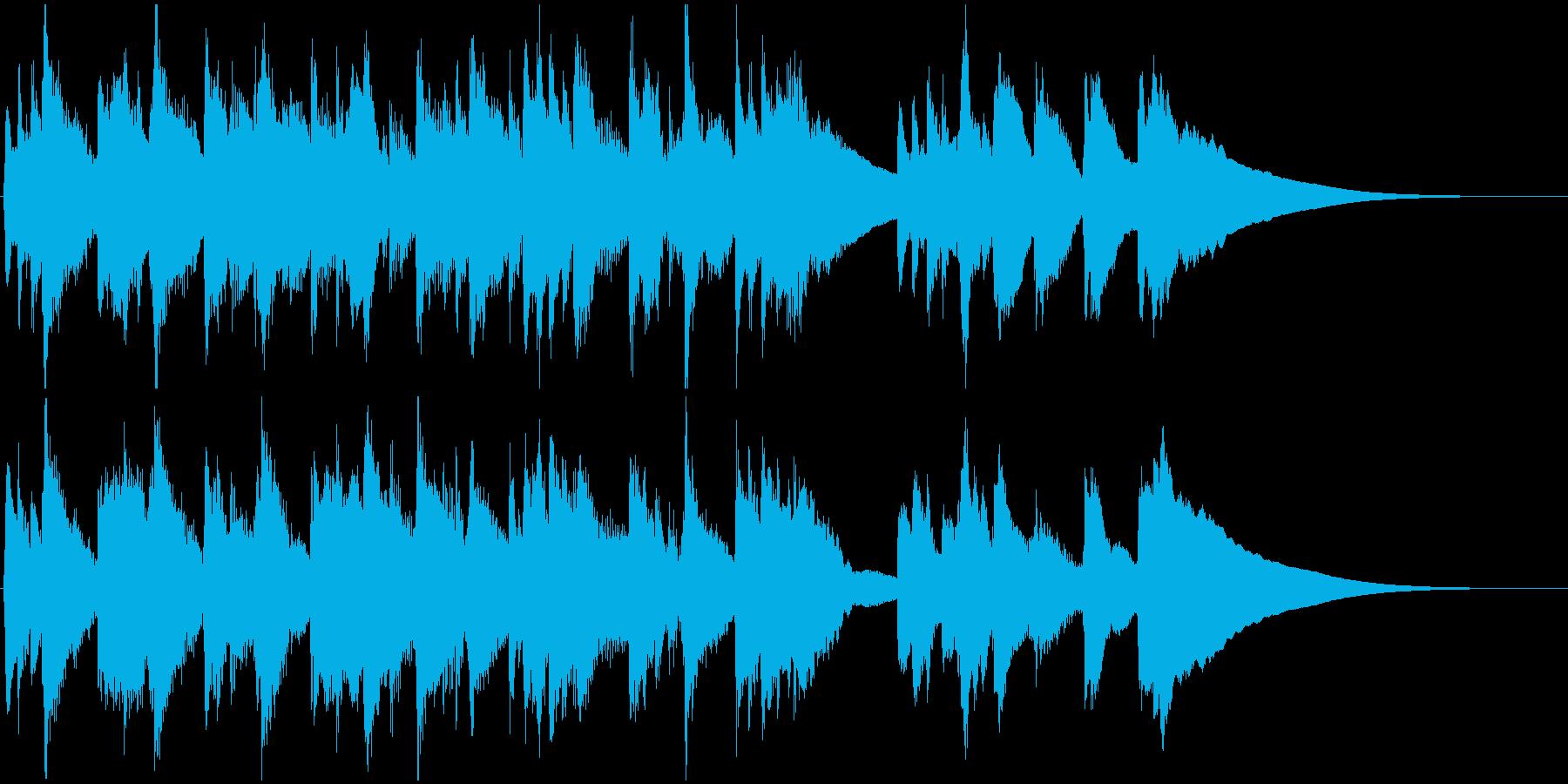 リュートのノスタルジックなジングルの再生済みの波形