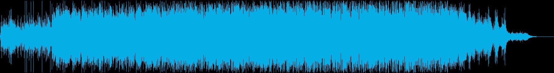 中毒性のあるシンセリフBGMの再生済みの波形