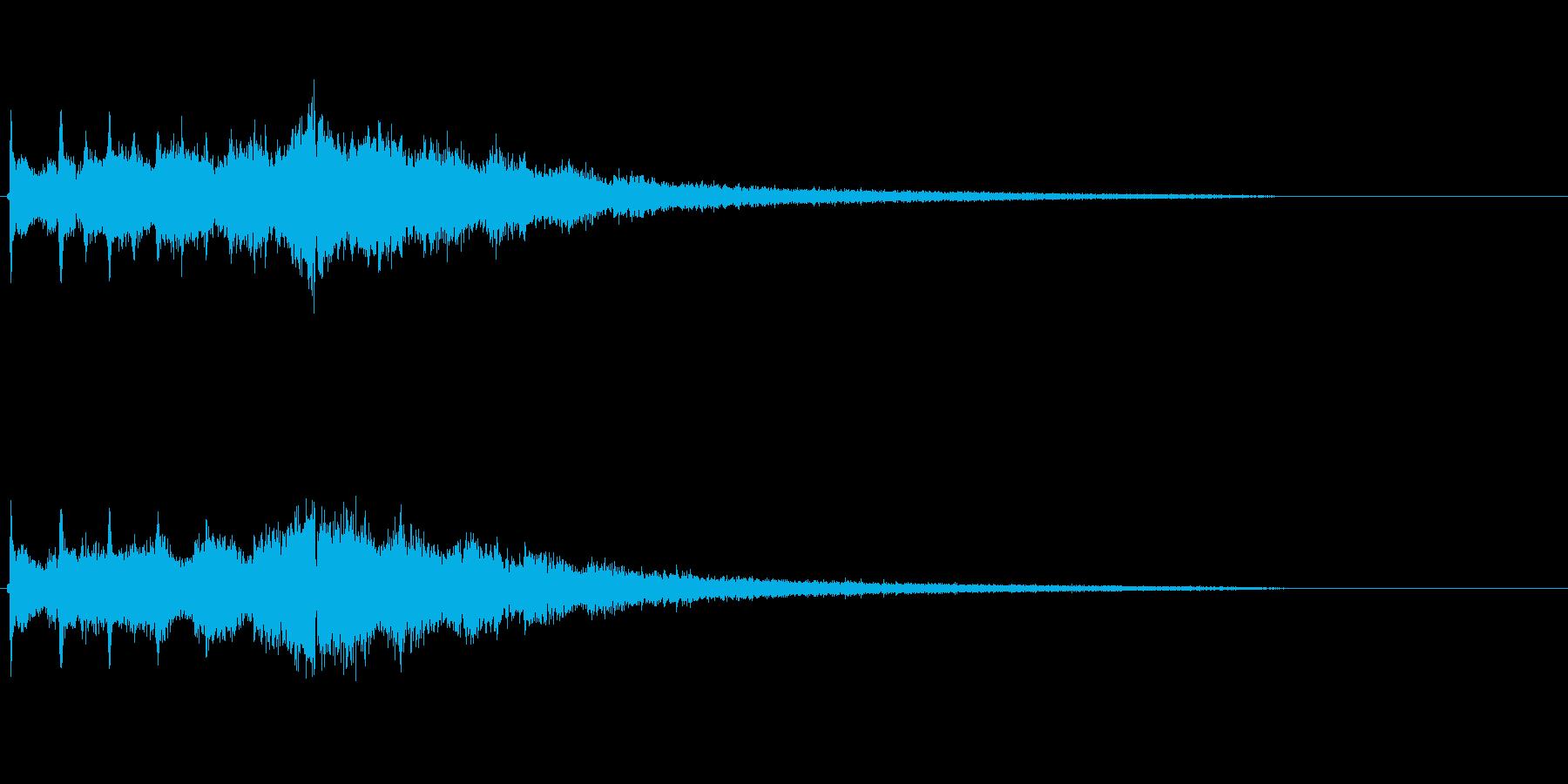 「キラーン」企業ロゴ向けSE。キラりと…の再生済みの波形