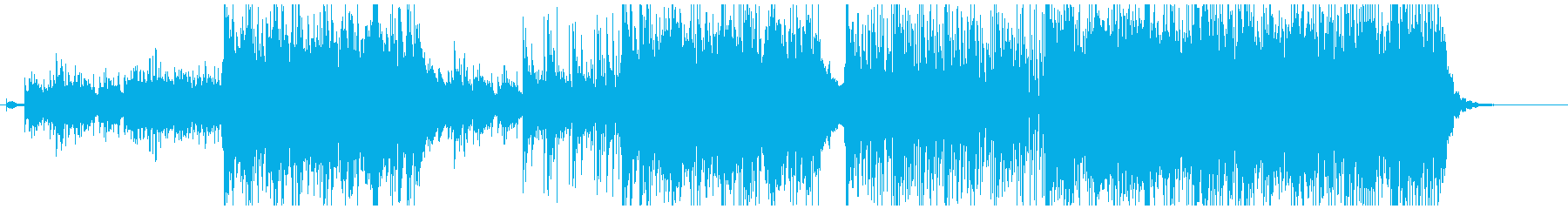 神秘的で緊張感ある曲の再生済みの波形