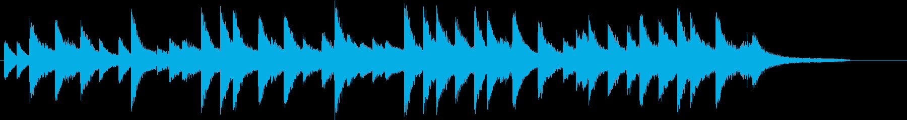 四季より「春」モチーフのピアノジングルFの再生済みの波形