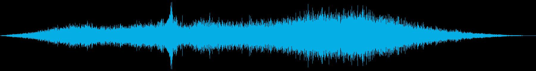 通り過ぎるトラック-遅いの再生済みの波形