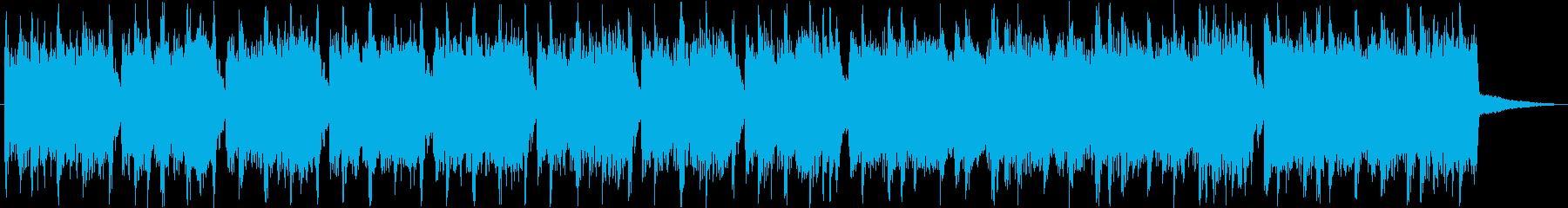 エレキギターが冴えるハードロックの再生済みの波形