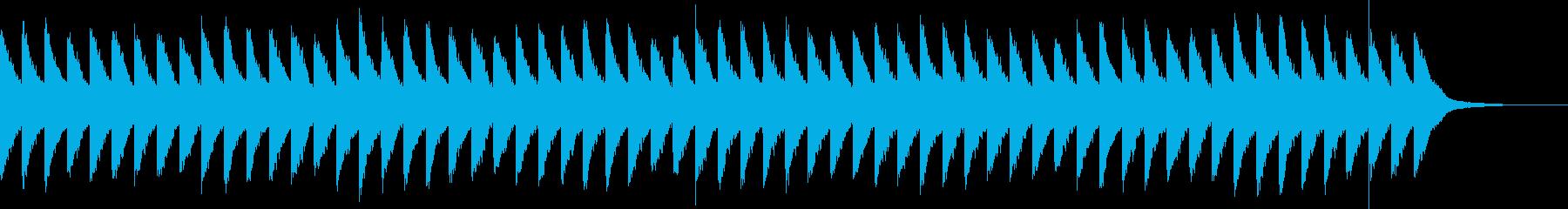カンカンカン...。踏切B(高・長)の再生済みの波形