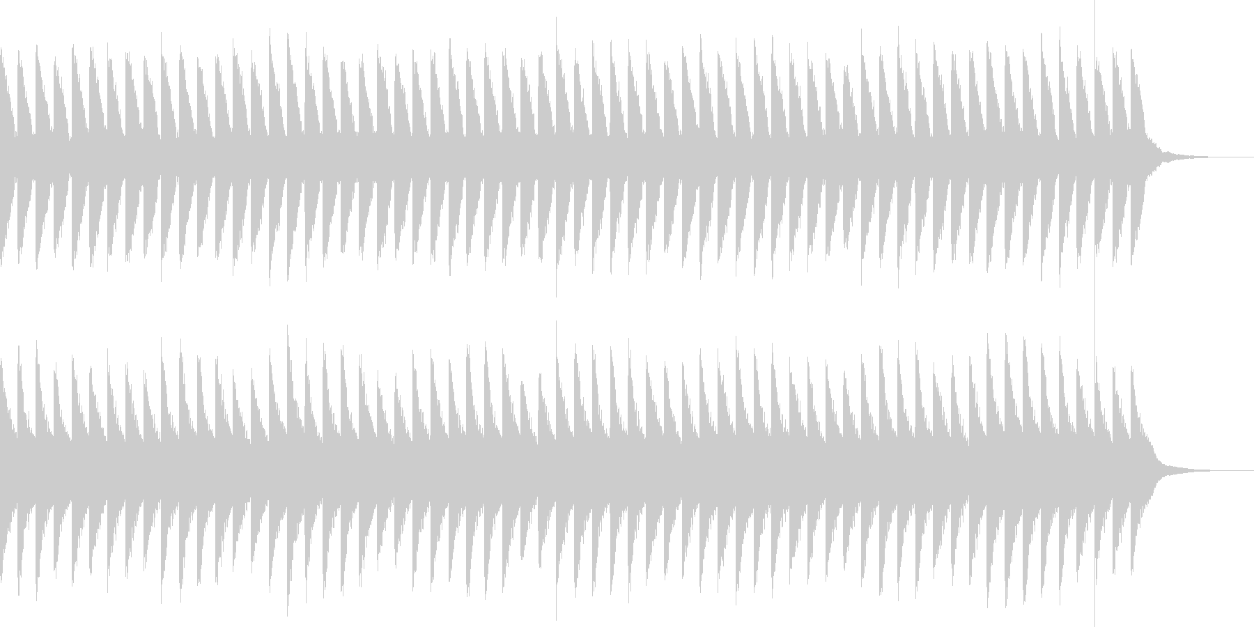 カンカンカン...。踏切B(高・長)の未再生の波形