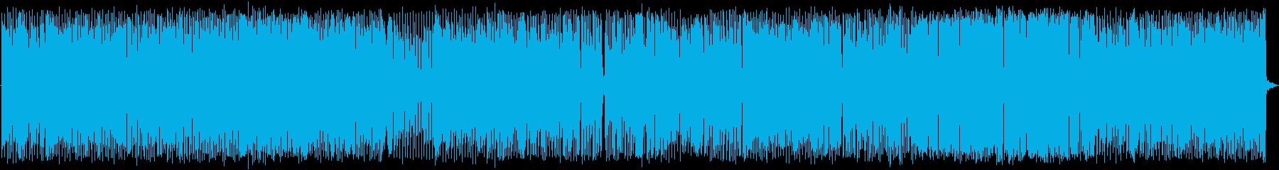 割とアグレッシヴなハウスの再生済みの波形