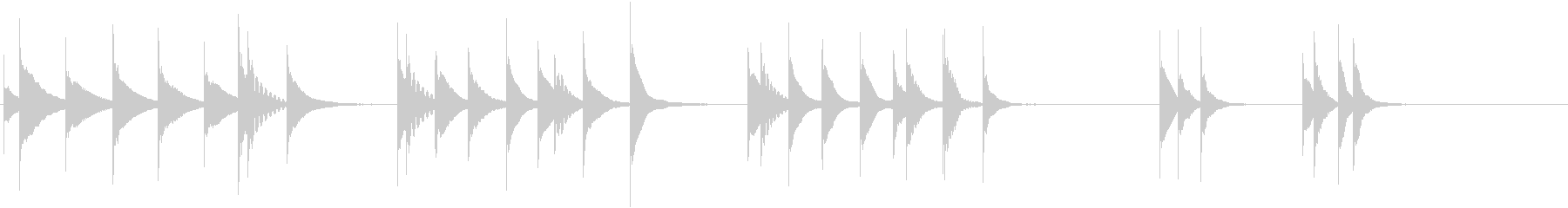 木製木琴:忍び寄る、漫画コメディパ...の未再生の波形