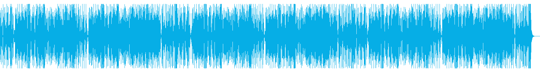 昭和系ドラマでかかりそうなファンク系楽曲の再生済みの波形