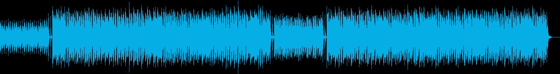 キックとスネアなしの再生済みの波形