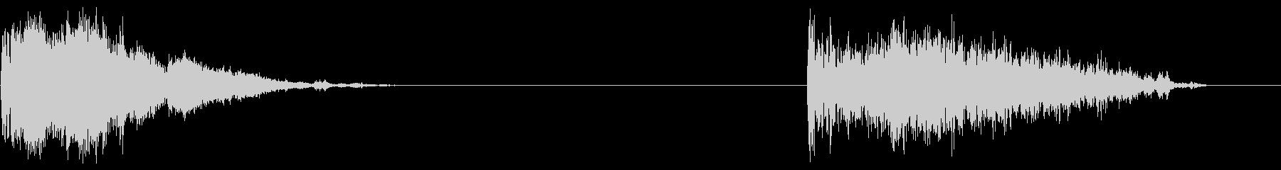 カークラッシュ、2バージョン; D...の未再生の波形