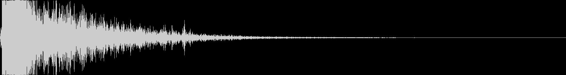 【銃】 10 フレアガン バーンッの未再生の波形