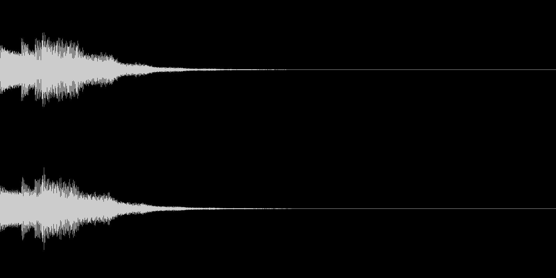 ポロロンと軽い音の決定ボタンSEです。の未再生の波形