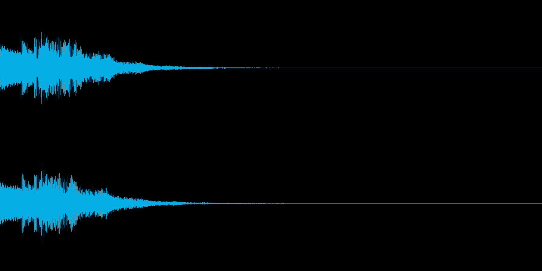 ポロロンと軽い音の決定ボタンSEです。の再生済みの波形