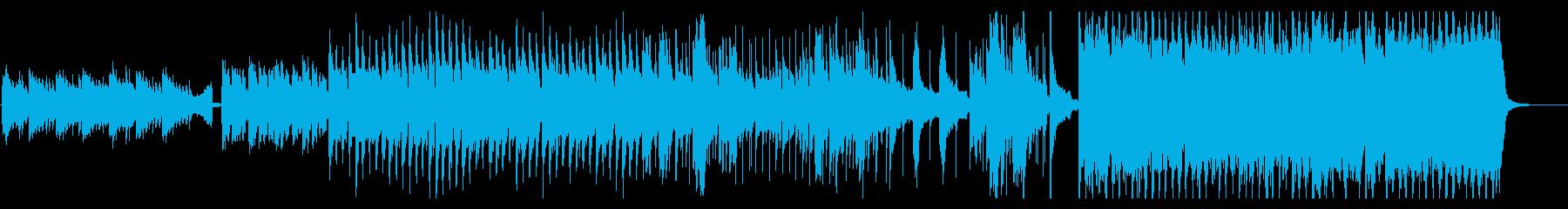 かっこいいシンセとピアノのEDMの再生済みの波形