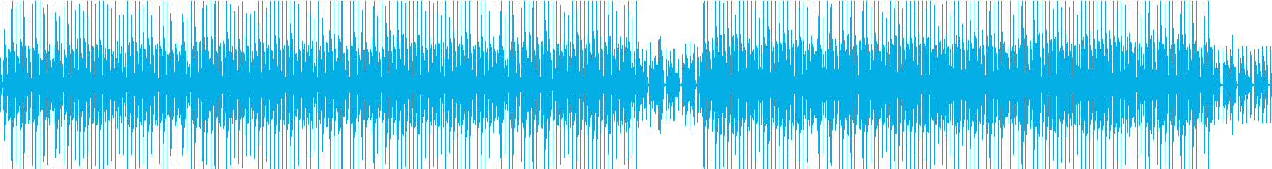 ゲーム配信・子供・オシャレ可愛い曲の再生済みの波形