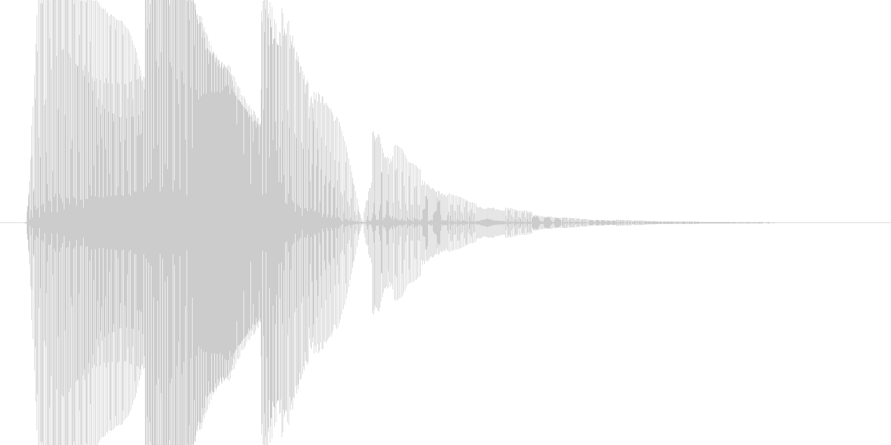 8bit音源による魔法1の未再生の波形