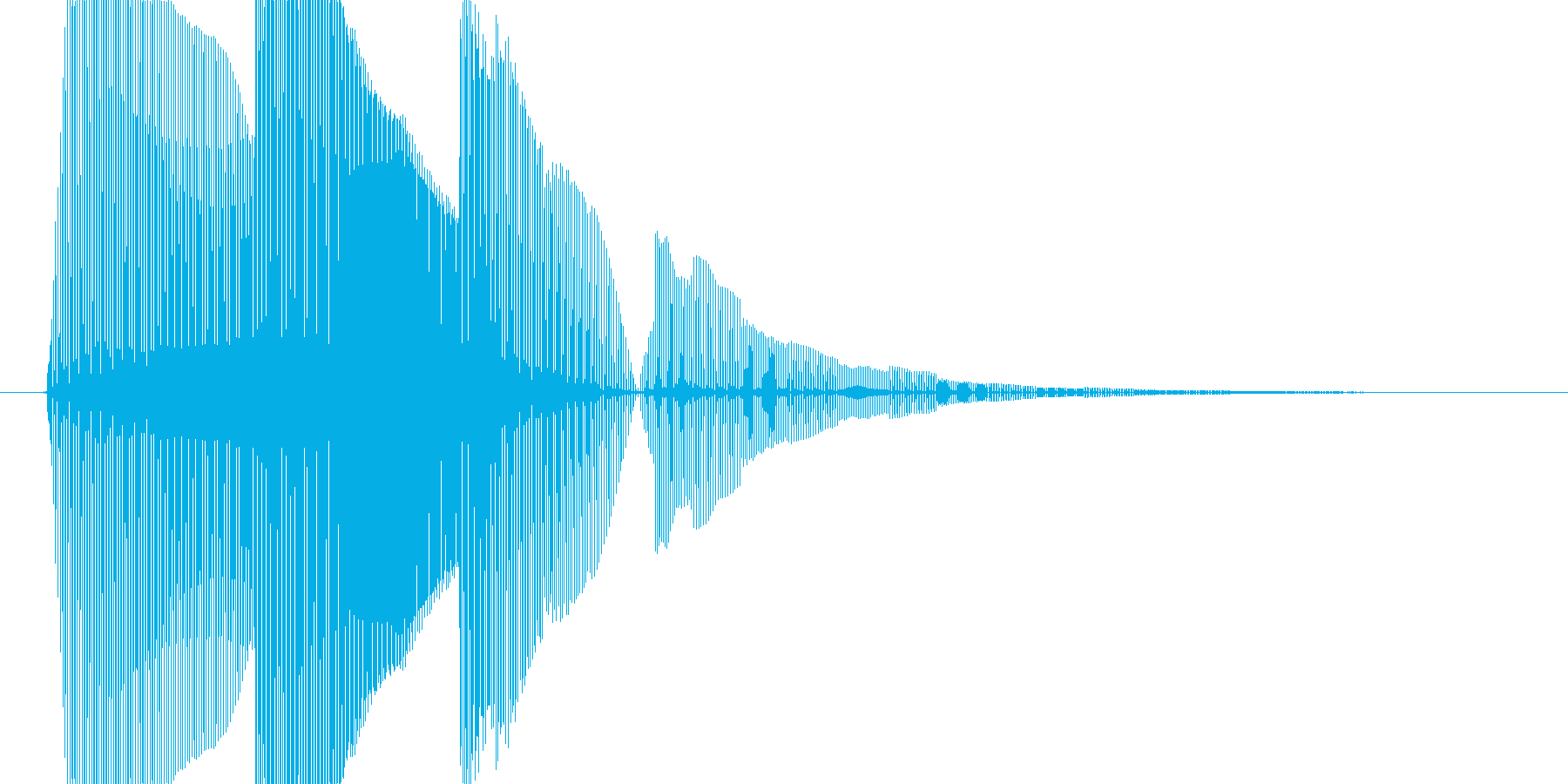 8bit音源による魔法1の再生済みの波形