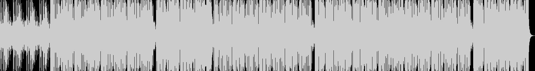 重低音が響く個性的なHIPHOPビートの未再生の波形