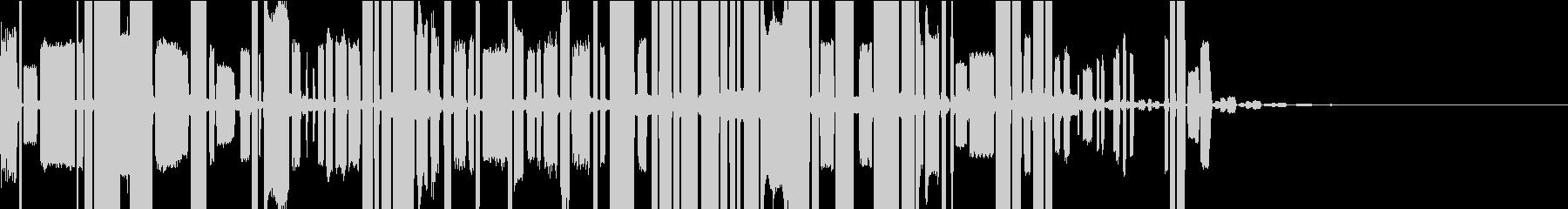 ロボットの声(長め)の未再生の波形