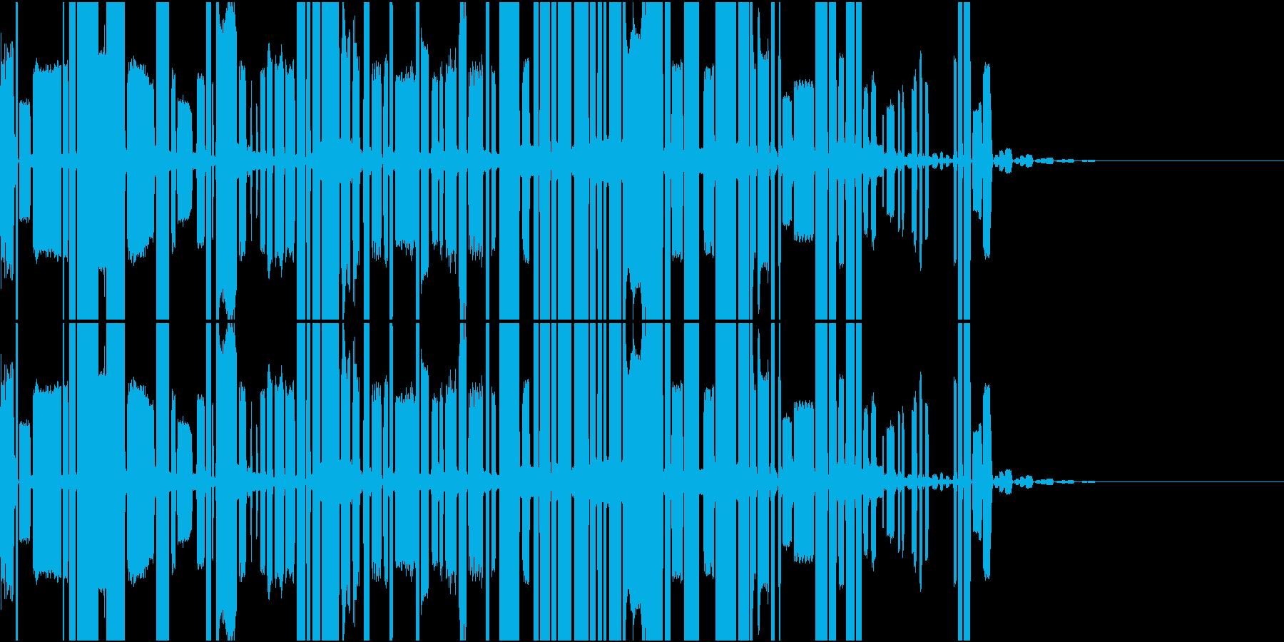 ロボットの声(長め)の再生済みの波形