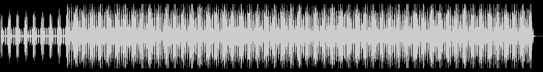 スローテンポでまったりとした曲調のEDMの未再生の波形
