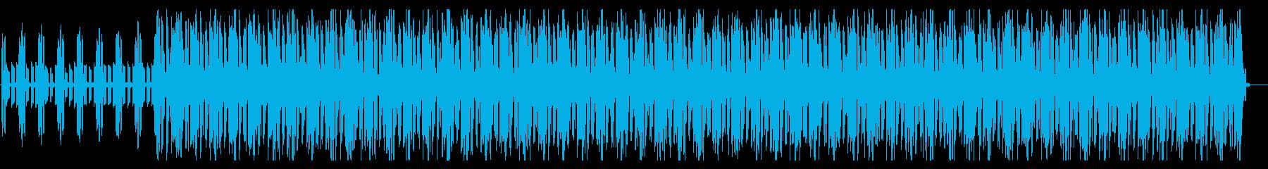 スローテンポでまったりとした曲調のEDMの再生済みの波形