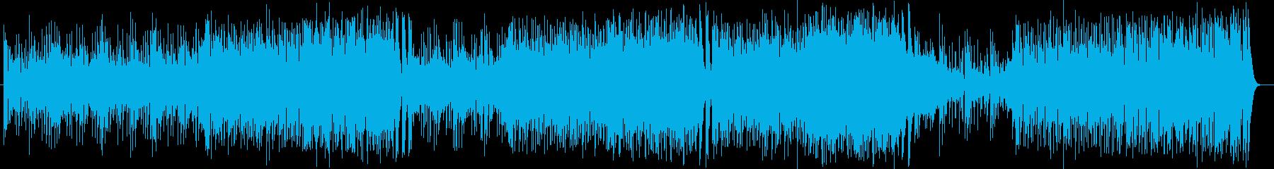 ワウギターのカッティングが印象的なロックの再生済みの波形