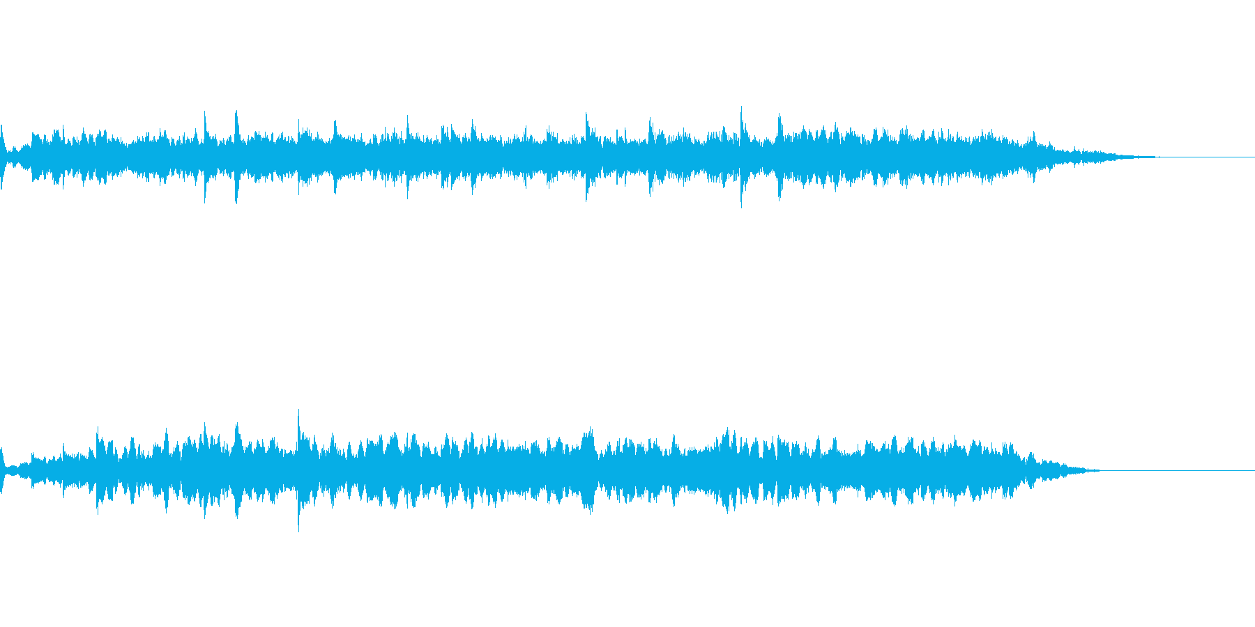 劇伴用の短いアンビエント風効果音の再生済みの波形