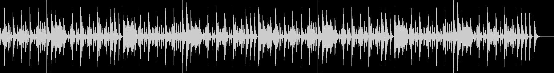 じゃれる猫を題材にした軽快なピアノBGMの未再生の波形