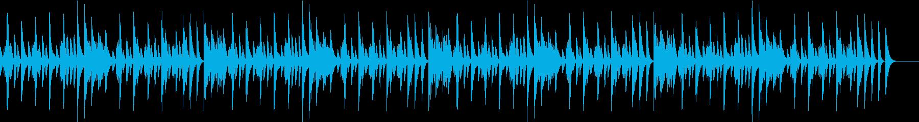 じゃれる猫を題材にした軽快なピアノBGMの再生済みの波形