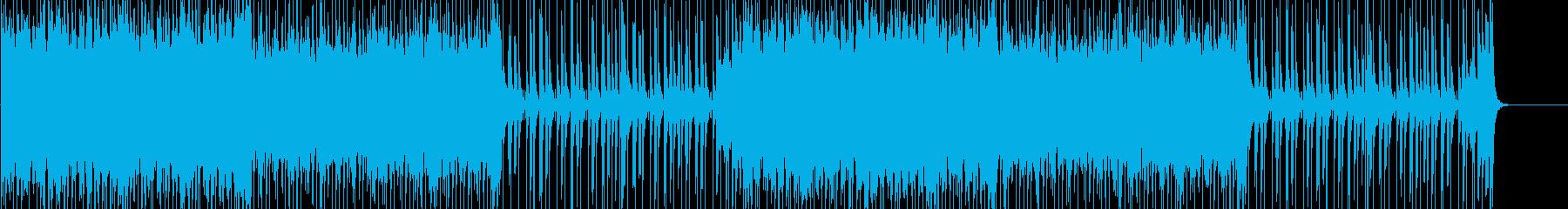 アップテンポなアクションRPGの曲の再生済みの波形