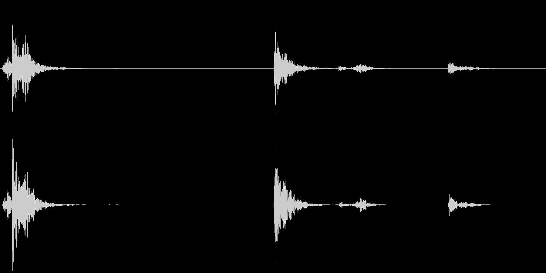 【生録音】お箸の音 26 箸立ての中の未再生の波形