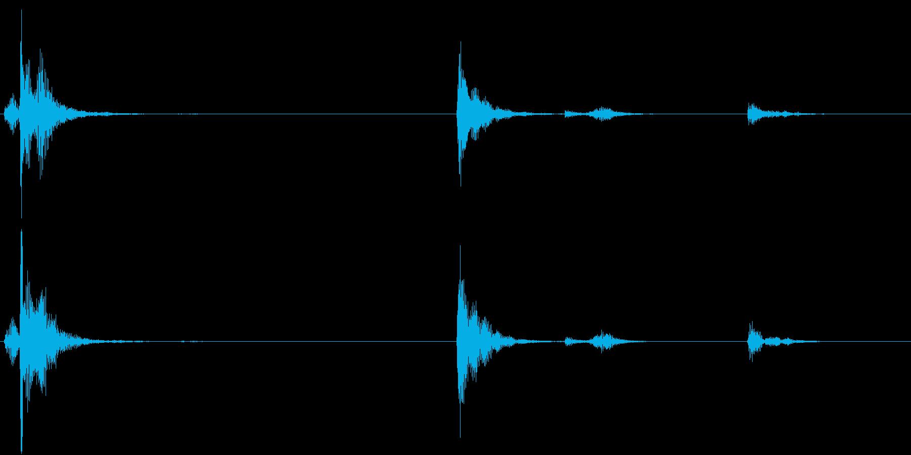 【生録音】お箸の音 26 箸立ての中の再生済みの波形
