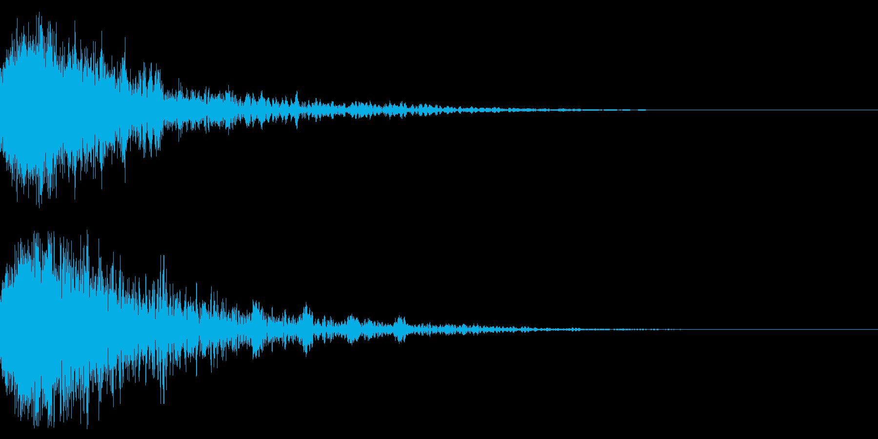 ドーン-54-2(インパクト音)の再生済みの波形