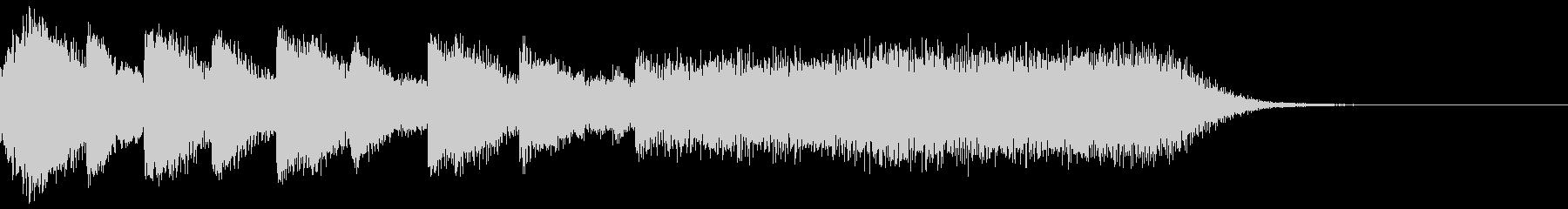 タラララタトタトタトタトター(場面転換)の未再生の波形