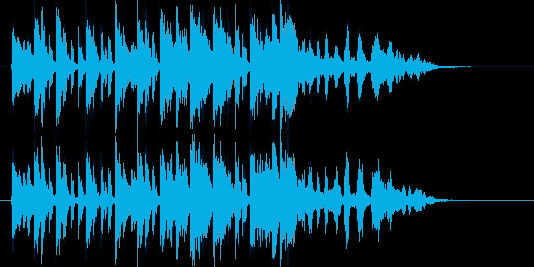 リズミカルで和風なシンセポップジングルの再生済みの波形