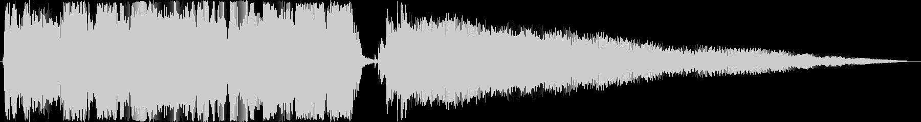 ジングル ロックンロールギターAの未再生の波形