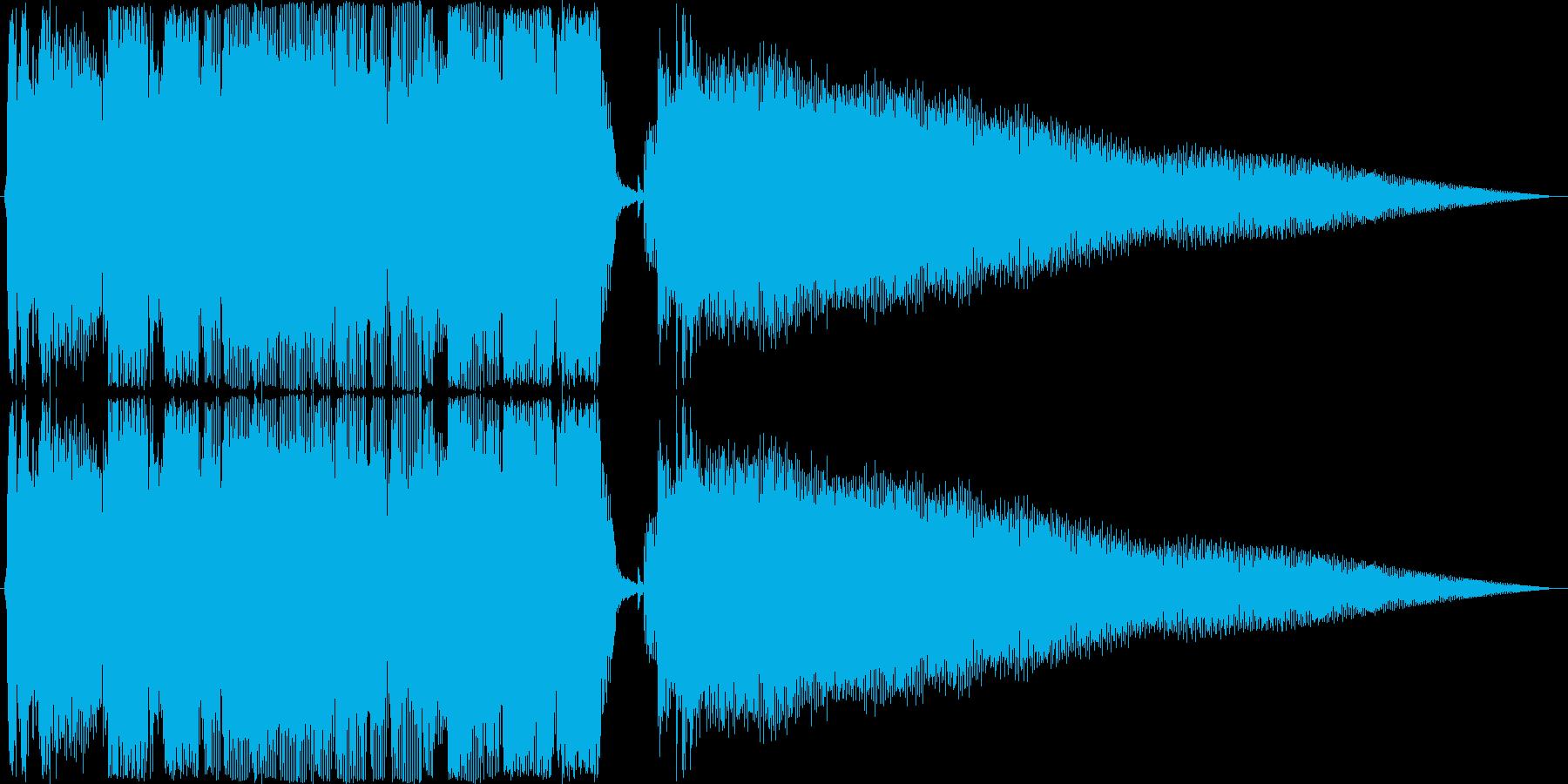 ジングル ロックンロールギターAの再生済みの波形