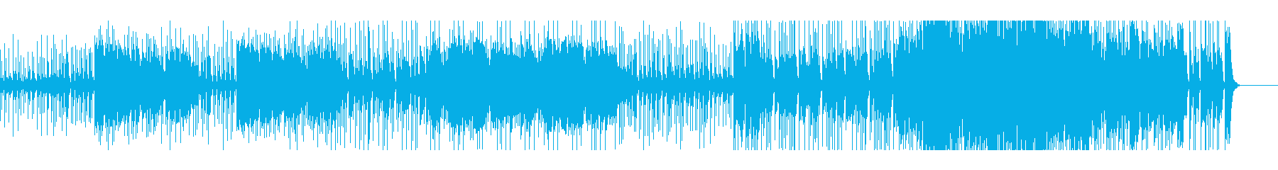 エスニック感あるビートサウンドの再生済みの波形