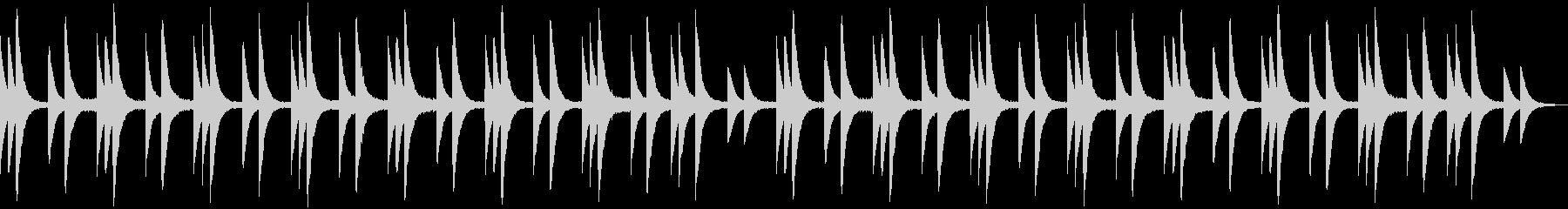 古い洋館で流れる不気味なオルゴールの未再生の波形