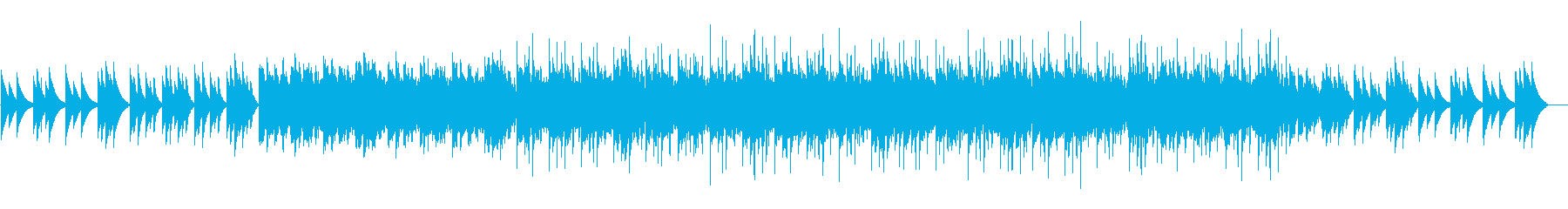 寂しくて暗めな電子ピアノのループの再生済みの波形