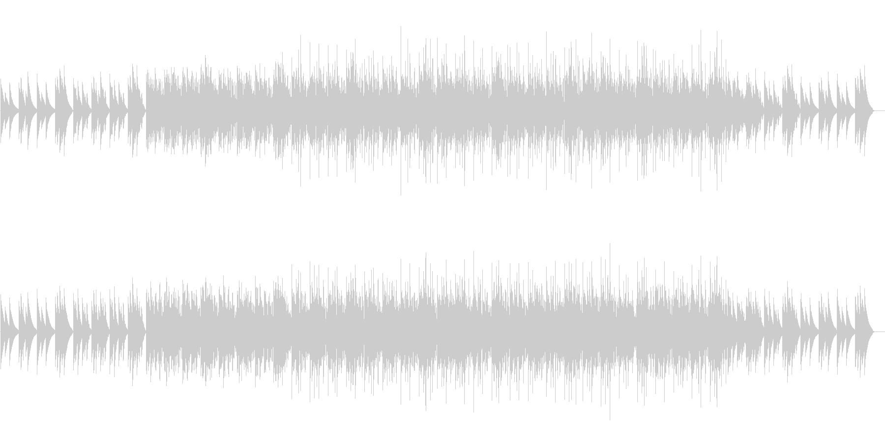寂しくて暗めな電子ピアノのループの未再生の波形